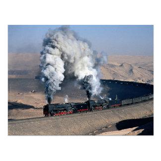 Cartão Postal Dois QJs na borda do deserto de Gobi, China