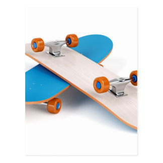 Cartão Postal Dois skates