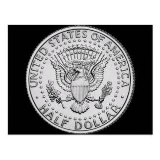 Cartão Postal Dólar de grande selo dos E.U. meio