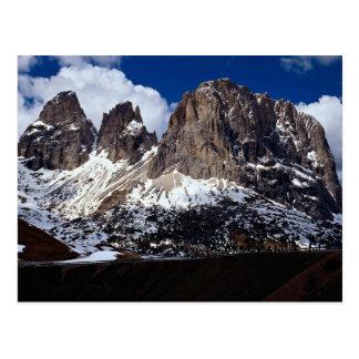 Cartão Postal Dolomites, região Venetian, Italia do norte
