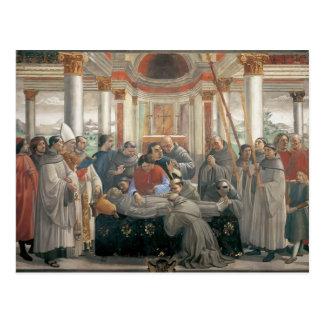 Cartão Postal Domenico Ghirlandaio: A morte de St Francis