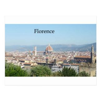 Cartão Postal Domo de Florença do quadrado de Michelangelo