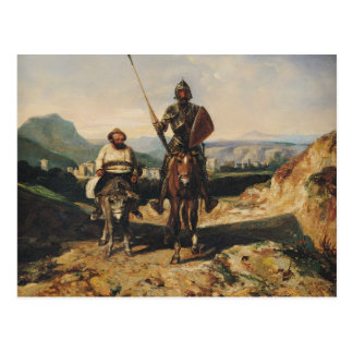 Cartão Postal Don Quixote e Sancho