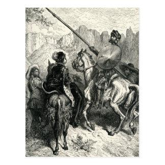 Cartão Postal Don Quixote e senhora