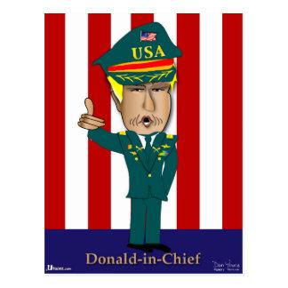 Cartão Postal Donald-Em-Chefe