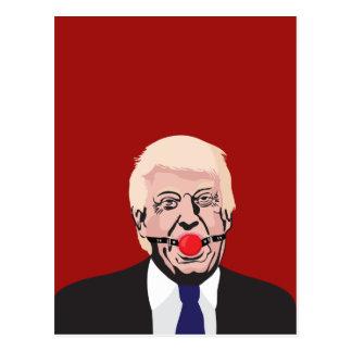 Cartão Postal Donald J. Trunfo com mordaça vermelha - DIY