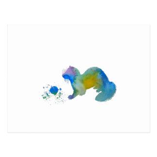 Cartão Postal Doninha com brinquedo