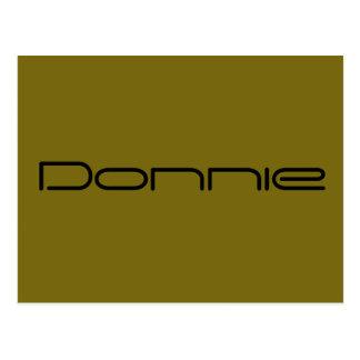 Cartão Postal Donnie, caráter preto do órfão, pia batismal