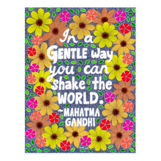 Cartão Postal Doodle boémio colorido das citações da tipografia
