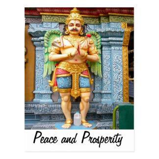 Cartão Postal Doorkeeper, de um templo Hindu