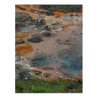 Cartão Postal Dor hidrotermal dos artistas das cores de
