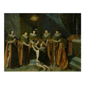Cartão Postal d'Orleans de recepção de Louis XIII Henri