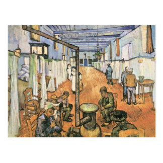 Cartão Postal Dormitório no hospital em Arles por Van Gogh