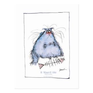 """Cartão Postal dos fernandes tony """"não era mim"""" desenhos animados"""