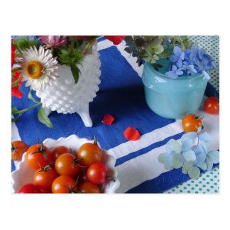 """Cartão Postal dos tomates de FARMphemera.com do """"cartão Hobnail"""