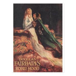 Cartão Postal Douglas Fairbanks como Robin Hood