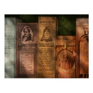 Cartão Postal Doutor - extratos & Sarsaparilla do composto