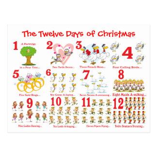 Cartão Postal Doze dias do Natal