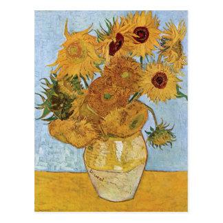 Cartão Postal Doze girassóis por Vincent van Gogh