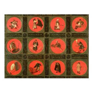 Cartão Postal Doze provérbio, c.1558-60