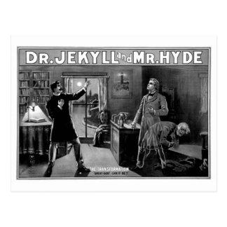 Cartão Postal Dr. Jekyll e Sr. Hyde