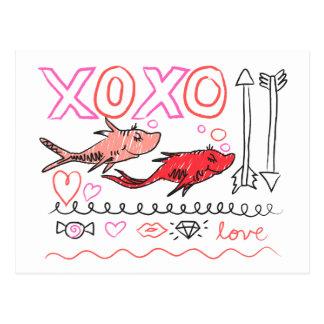 Cartão Postal Dr. Seuss Namorados | XOXO