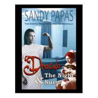 Cartão Postal Dracula e a enfermeira de noite