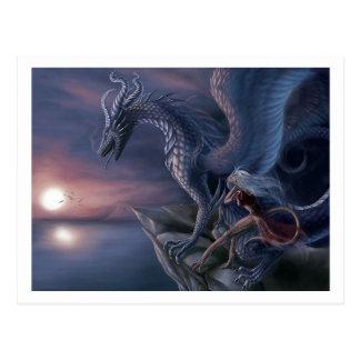 Cartão Postal Dragão azul