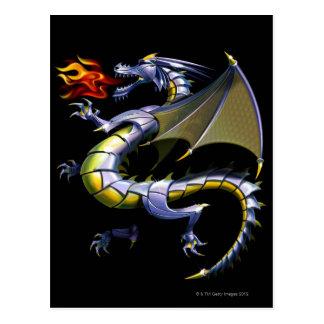 Cartão Postal dragão derespiração