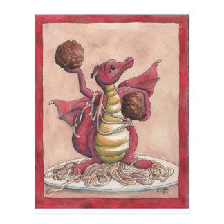Cartão Postal Dragão dos espaguetes do vôo