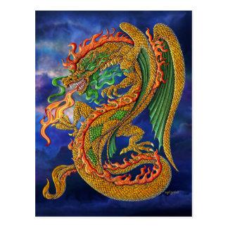 Cartão Postal Dragão dourado