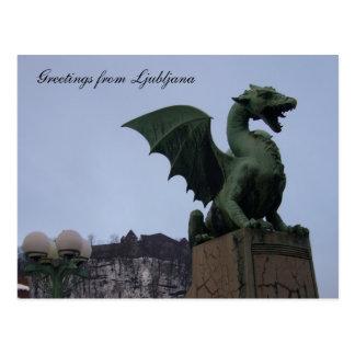 Cartão Postal dragão ljubljana