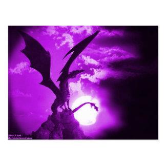 Cartão Postal Dragão roxo 2