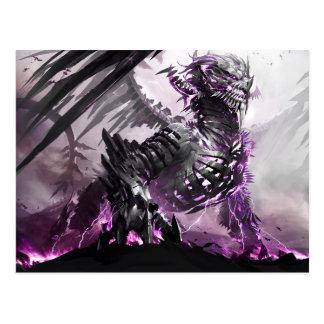 Cartão Postal Dragão roxo 5
