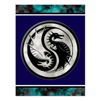 Cartão Postal Dragão Yin Yang