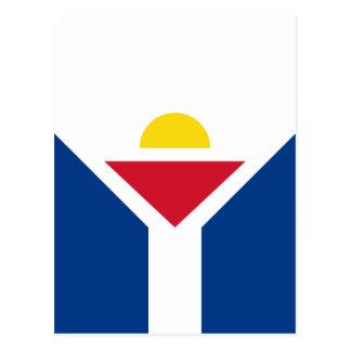 Cartão Postal Drapeau de St Martin - bandeira de St Martin