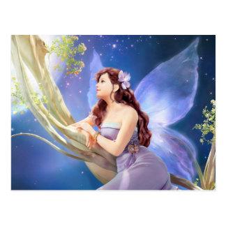 Cartão Postal Dreamy Violet Fairy