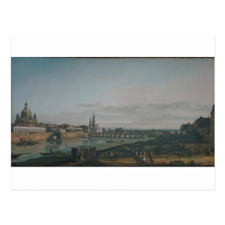 Cartão Postal Dresden visto do banco direito do Elbe