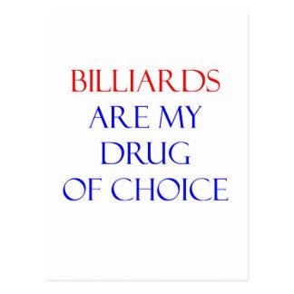 Cartão Postal Droga dos bilhar da escolha