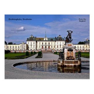 Cartão Postal Drottningholm, Éstocolmo, foto…