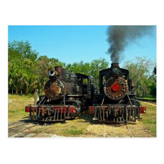 Cartão Postal Duas locomotivas de vapor de Baldwin