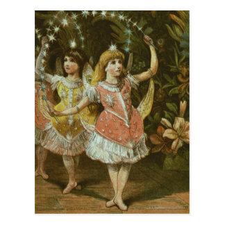 Cartão Postal Duas raparigas executam o balé