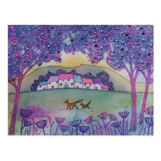 Cartão Postal Duas raposas
