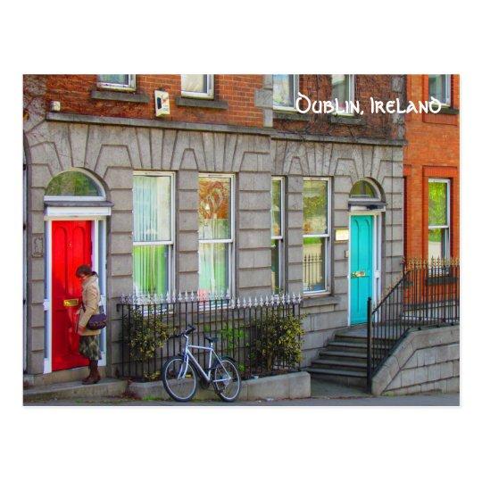 Cartão Postal Dublin doors ~Dublin, Ireland