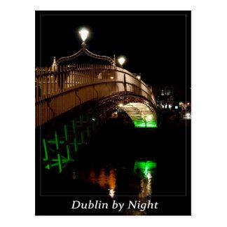 Cartão Postal Dublin em a noite