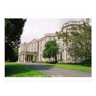 Cartão Postal Dublin Ireland, casa de Farmleigh, parque de