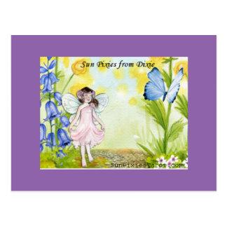 Cartão Postal Duendes de Sun do jardim de Dixie