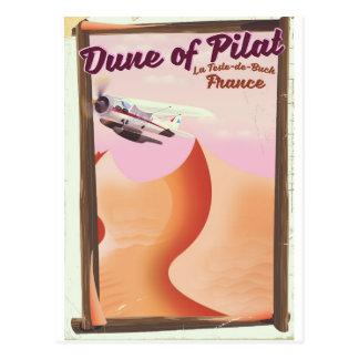 Cartão Postal Duna de Pilat, cartaz do viagem de France do