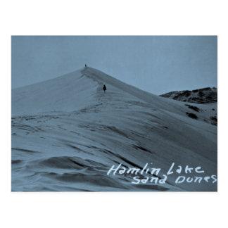 Cartão Postal Dunas de areia do lago Hamlin, Michigan