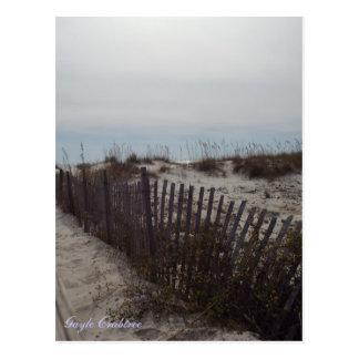 Cartão Postal Dunas de areia e praia na costa do golfo, Alabama
